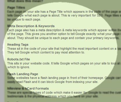 Website local SEO ranking factors